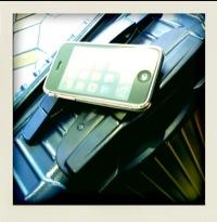 iPhoneと出張に出ております